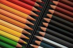 Crayons tous neufs de couleur Image stock