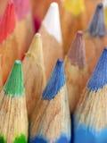 crayons trä arkivbild