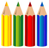 Crayons, vector Royalty Free Stock Photo