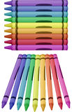 Crayons - vector illustration Stock Photo