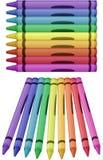 Crayons - vector illustration Stock Photo