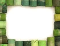 Crayons verts Photographie stock libre de droits