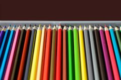 Crayons. Waiting for back to school Stock Photo