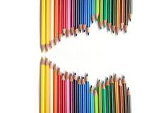 Crayons wave stock photos