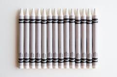 crayons white Arkivfoto