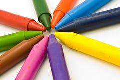 crayonswax Royaltyfri Fotografi