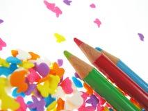 crayonträ royaltyfria foton