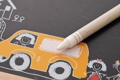 crayonwhite Royaltyfri Foto