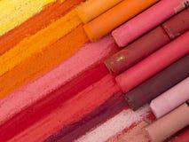 Crayouns artistiques colorés photo stock