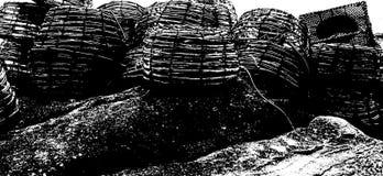Craypots en la isla Tasmania del Flinders Fotos de archivo libres de regalías
