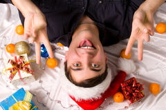 Crayze santa Stock Images