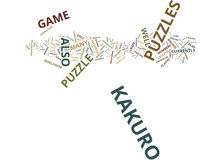 The Craze That Is The Kakuro Puzzles Text Background Word Cloud Concept Royalty Free Stock Photos