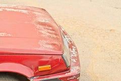 Crazing bil för röd färg royaltyfria foton