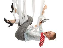 Crazy accountant life Royalty Free Stock Image