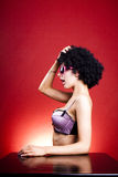 Crazy afro girl Royalty Free Stock Photos