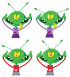 Crazy alien set Stock Image