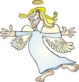 Crazy angel. Cartoon illustration of funny crazy angel Royalty Free Stock Images