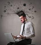 Crazy angry businessman stock photos