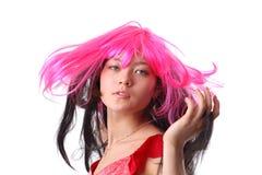 Crazy asian funny girl Royalty Free Stock Photo