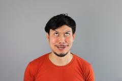 Crazy asian man. Stock Photos