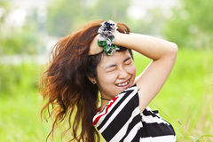 Crazy asian woman Royalty Free Stock Images