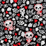 Crazy babies seamless pattern. Stock Photo