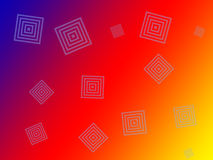 Crazy background with squares Stock Images