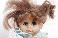 Free Crazy Badred  Hair Doll Close Up Royalty Free Stock Images - 156216249
