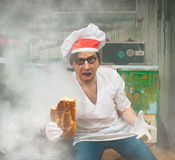 Crazy baker Royalty Free Stock Images