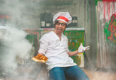 Crazy baker Stock Photos