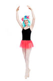 Crazy Ballet Girl Wearing Wig Stock Images