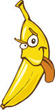 Crazy banana. Cartoon illustration of crazy funny banana Royalty Free Stock Image