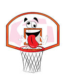 Crazy basketball hoop cartoon Royalty Free Stock Image