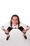 Crazy bavarian man Stock Photo
