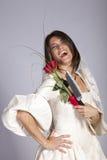 Crazy Beautiful Bride Stock Photo