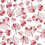Crazy beautiful watercolor pattern of leaves. handmade painted. Royalty Free Stock Image