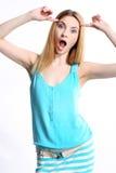 Crazy beautiful woman Royalty Free Stock Photos