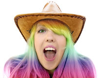 Crazy beauty girl screaming Stock Photography