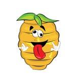 Crazy beehive cartoon Stock Photos