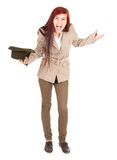 Crazy beggar woman with green hat Royalty Free Stock Photos