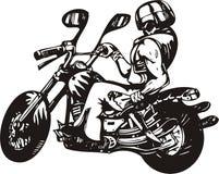 Crazy Biker. Royalty Free Stock Images