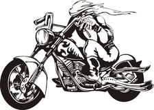 Crazy Biker. Stock Photo