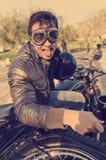 Crazy biker Royalty Free Stock Photos