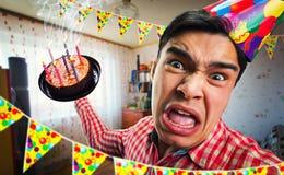 Crazy birthday boy Stock Photo