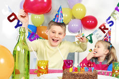 Crazy birthday party Stock Image