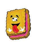 Crazy biscuit cartoon Royalty Free Stock Photos