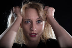 crazy blond girl Royalty Free Stock Image