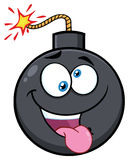 Crazy Bomb Face Cartoon Mascot Character With Expressions Stock Image