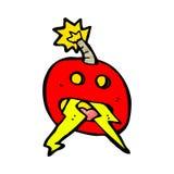 crazy bomb symbol Stock Images