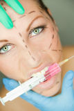 Crazy botox Royalty Free Stock Photo
